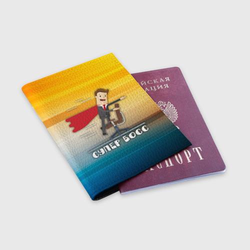 Обложка для паспорта матовая кожа  Фото 03, Супер босс