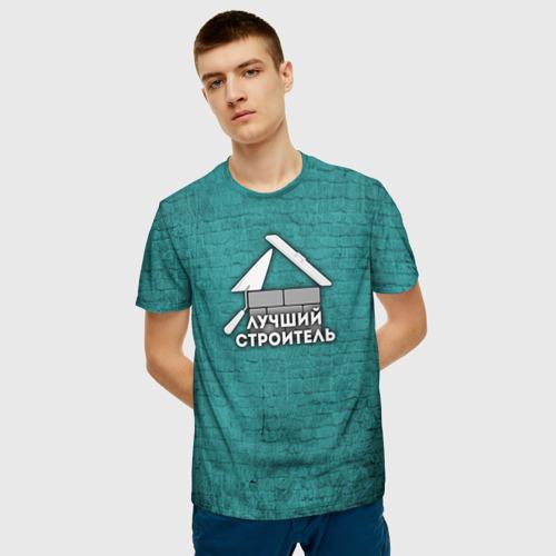 Мужская футболка 3D  Фото 03, Лучший строитель