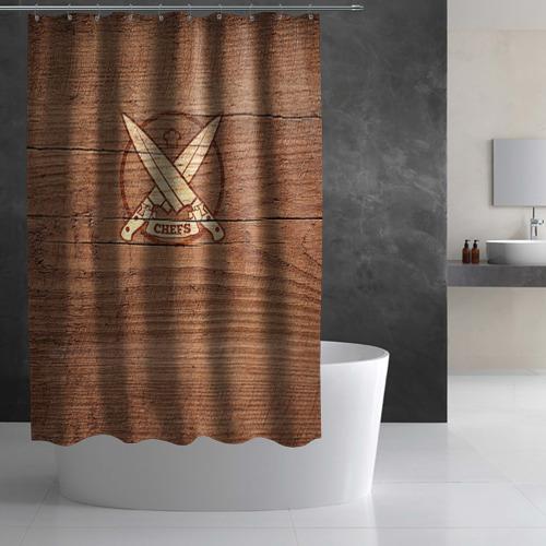 Штора 3D для ванной  Фото 03, Chefs