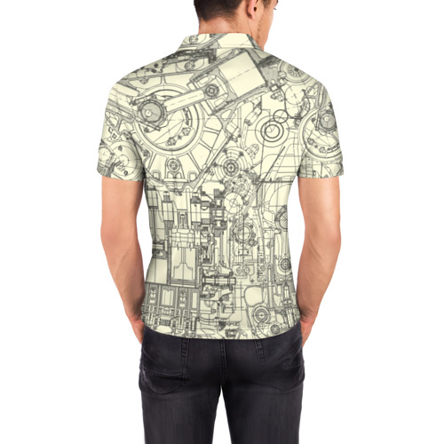 Мужская рубашка поло 3D  Фото 04, Лучший инженер