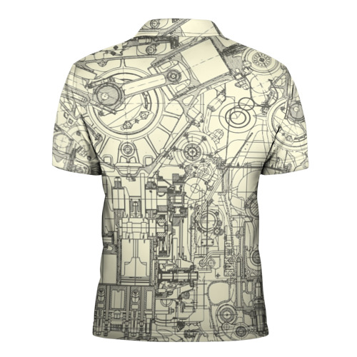 Мужская рубашка поло 3D  Фото 02, Лучший инженер