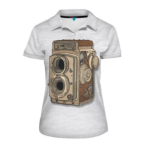 Женская рубашка поло 3D Фотоаппарат
