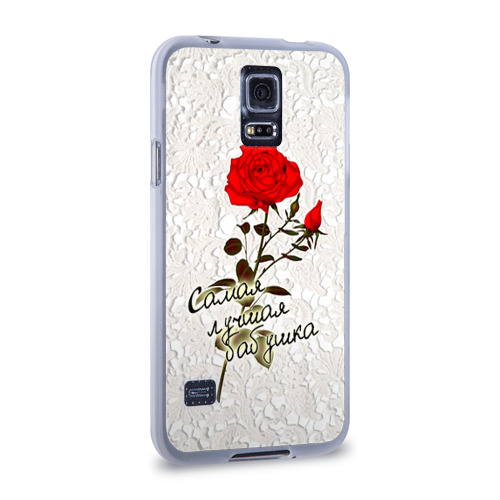 Чехол для Samsung Galaxy S5 силиконовый  Фото 02, Самая лучшая бабушка