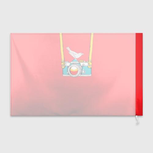 Флаг 3D  Фото 02, Фотоаппарат с птичкой