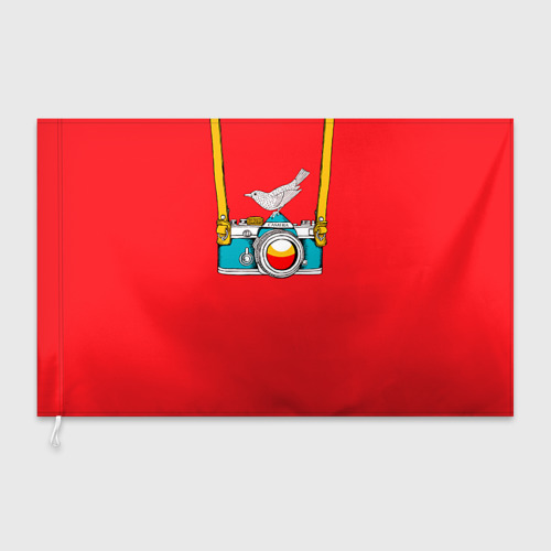 Флаг 3D  Фото 03, Фотоаппарат с птичкой
