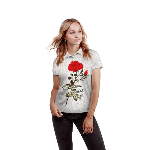 Женская рубашка поло 3D  Фото 03, Самая лучшая теща