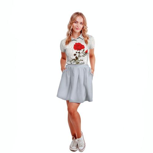 Женская рубашка поло 3D  Фото 04, Самая лучшая теща