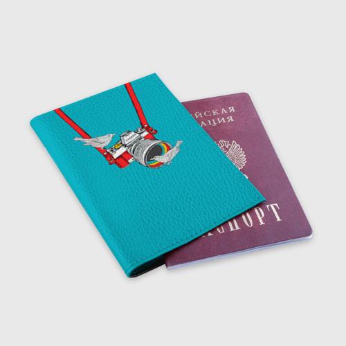 Обложка для паспорта матовая кожа  Фото 03, Зеркалка
