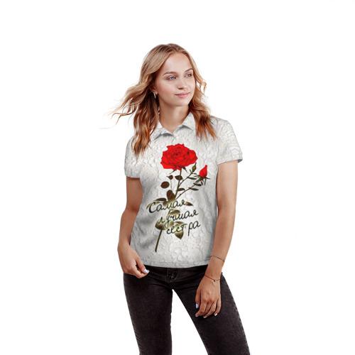 Женская рубашка поло 3D  Фото 03, Самая лучшая сестра