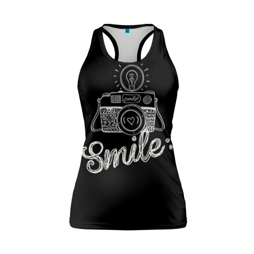 Женская майка 3D спортивная Smile