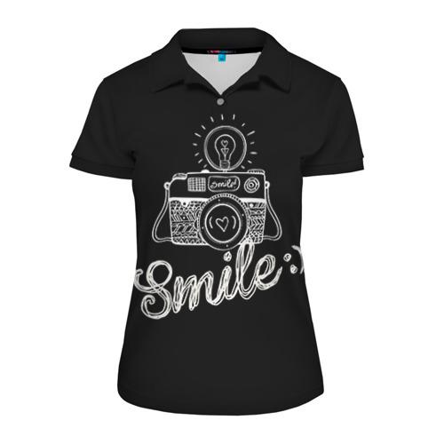 Женская рубашка поло 3D Smile