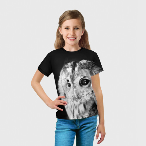 Детская футболка 3D  Фото 03, Сова