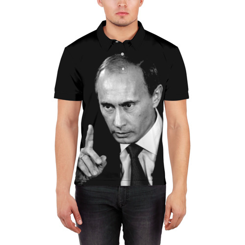 Мужская рубашка поло 3D  Фото 03, Путин