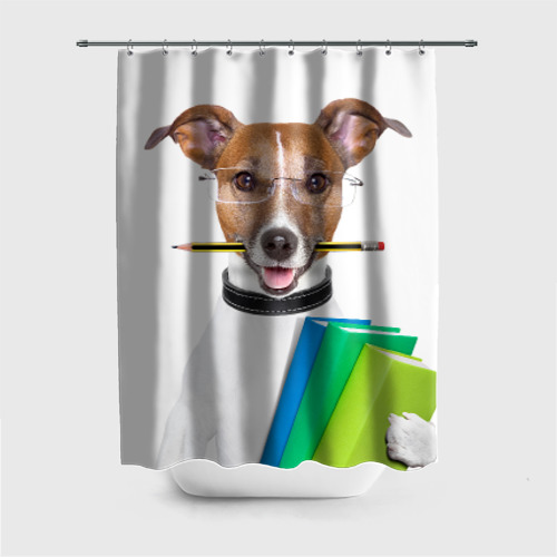 Штора для ванной Ученый пес от Всемайки