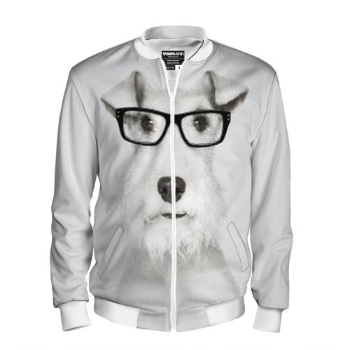 Мужской бомбер 3D  Фото 01, Собака в очках