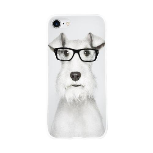 Чехол для Apple iPhone 8 силиконовый глянцевый  Фото 01, Собака в очках