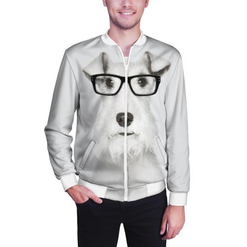 Мужской бомбер 3D  Фото 03, Собака в очках