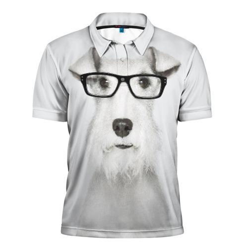 Мужская рубашка поло 3D  Фото 01, Собака в очках