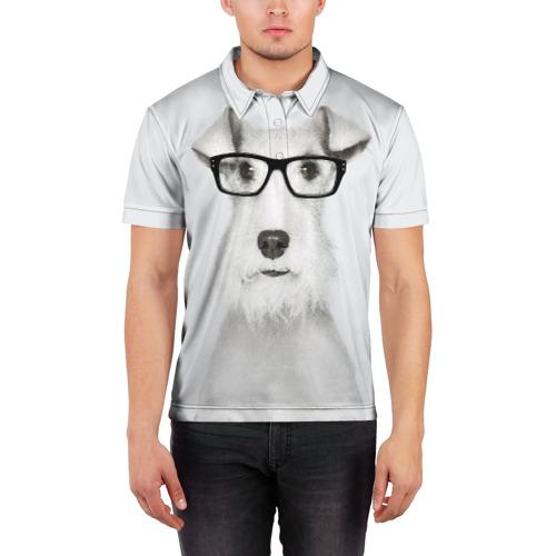 Мужская рубашка поло 3D  Фото 03, Собака в очках