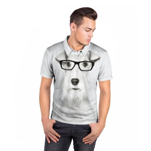 Мужская рубашка поло 3D  Фото 05, Собака в очках