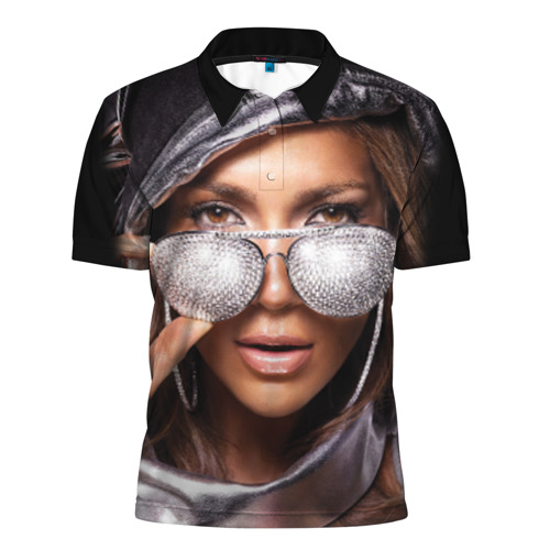 Мужская рубашка поло 3D  Фото 01, Дженнифер Лопес