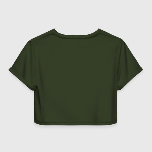 Женская футболка 3D укороченная  Фото 02, Лев
