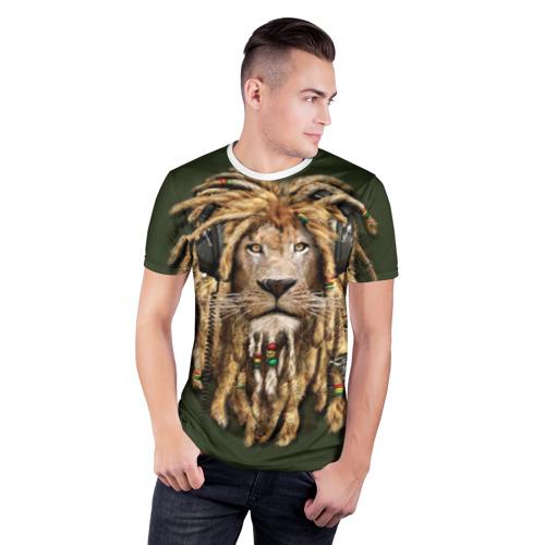 Мужская футболка 3D спортивная  Фото 03, Лев