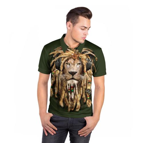 Мужская рубашка поло 3D  Фото 05, Лев