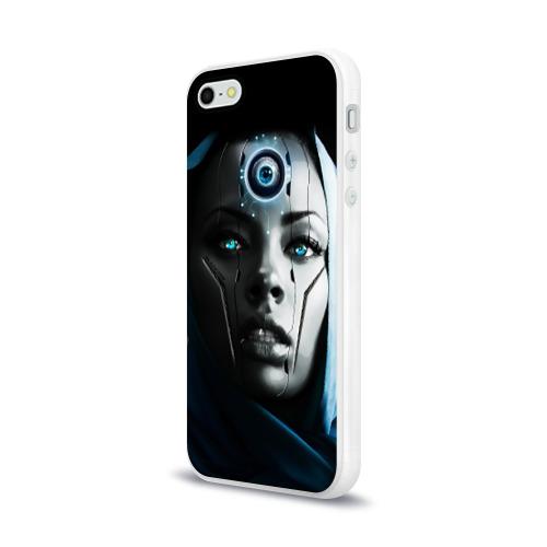 Чехол для Apple iPhone 5/5S силиконовый глянцевый  Фото 03, Девушка андроид