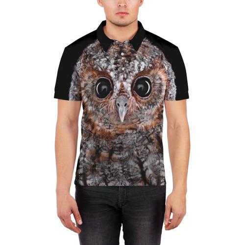 Мужская рубашка поло 3D  Фото 03, Сова