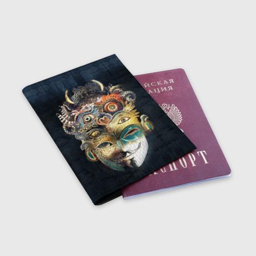 Обложка для паспорта матовая кожа  Фото 03, Маска