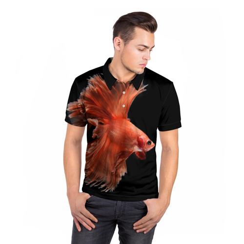 Мужская рубашка поло 3D  Фото 05, Бойцовая рыбка
