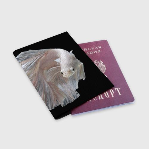 Обложка для паспорта матовая кожа  Фото 03, Бойцовая рыбка