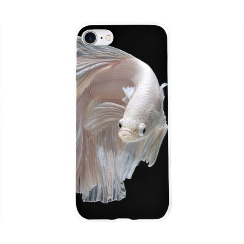 Чехол для Apple iPhone 8 силиконовый глянцевый  Фото 01, Бойцовая рыбка