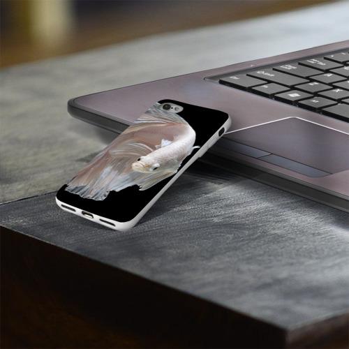 Чехол для Apple iPhone 8 силиконовый глянцевый  Фото 03, Бойцовая рыбка