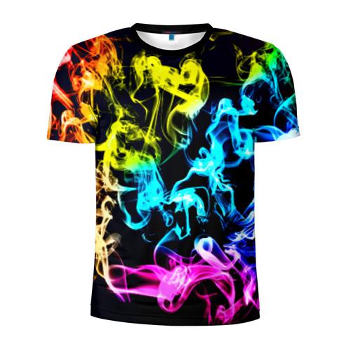 Мужская футболка 3D спортивная Дым