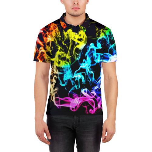 Мужская рубашка поло 3D  Фото 03, Дым