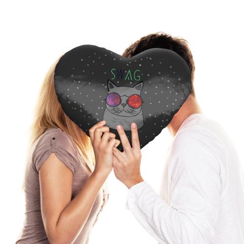 Подушка 3D сердце  Фото 03, Swag Cat