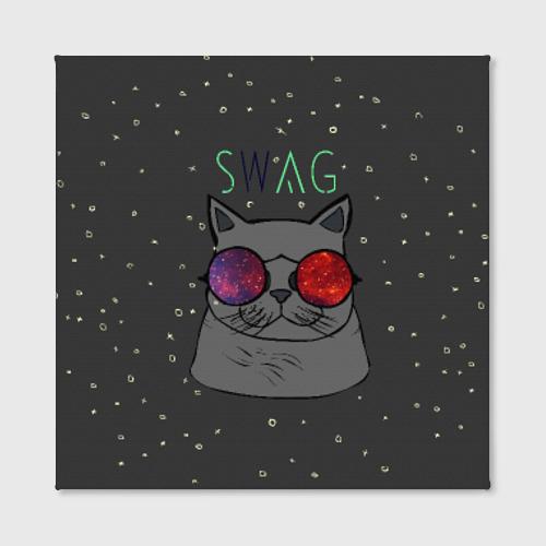 Холст квадратный  Фото 02, Swag Cat