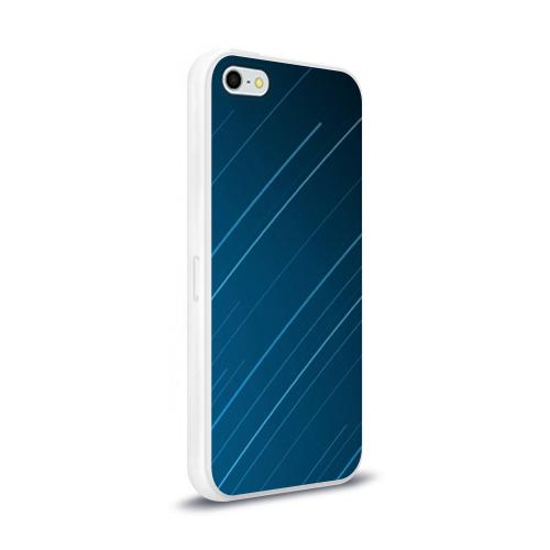 Чехол для Apple iPhone 5/5S силиконовый глянцевый Lines Фото 01