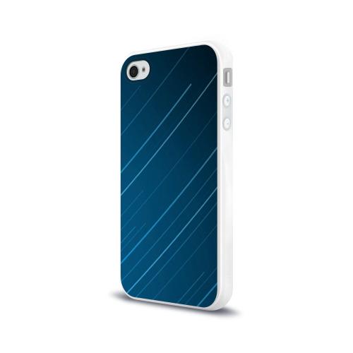 Чехол для Apple iPhone 4/4S силиконовый глянцевый Lines Фото 01