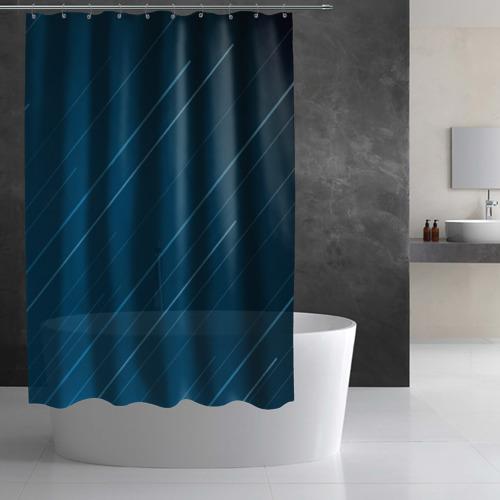 Штора 3D для ванной Lines Фото 01