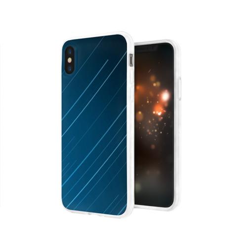 Чехол для Apple iPhone X силиконовый глянцевый Lines Фото 01