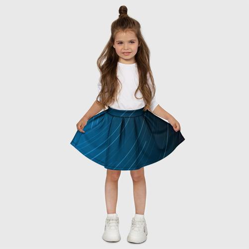 Детская юбка-солнце 3D Lines Фото 01