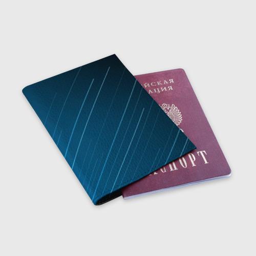 Обложка для паспорта матовая кожа Lines Фото 01