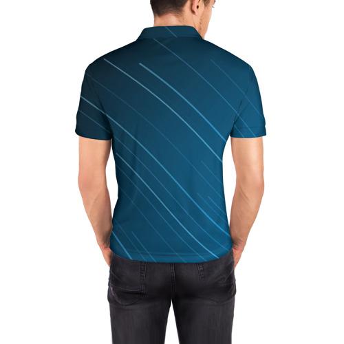 Мужская рубашка поло 3D Lines Фото 01