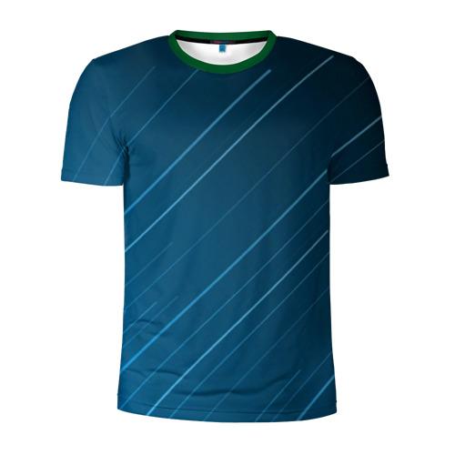 Мужская футболка 3D спортивная Lines
