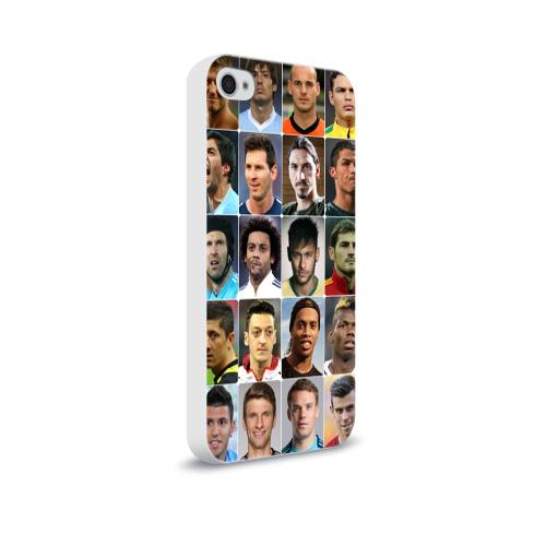 Чехол для Apple iPhone 4/4S soft-touch  Фото 02, Лучшие футболисты