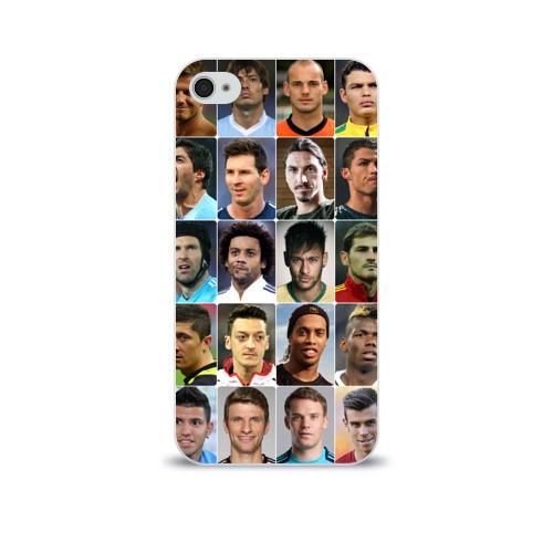 Чехол для Apple iPhone 4/4S soft-touch  Фото 01, Лучшие футболисты