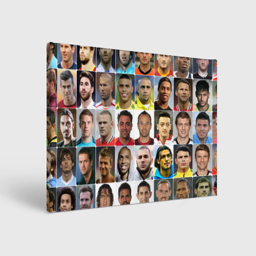 Холст прямоугольный  Фото 01, Великие футболисты